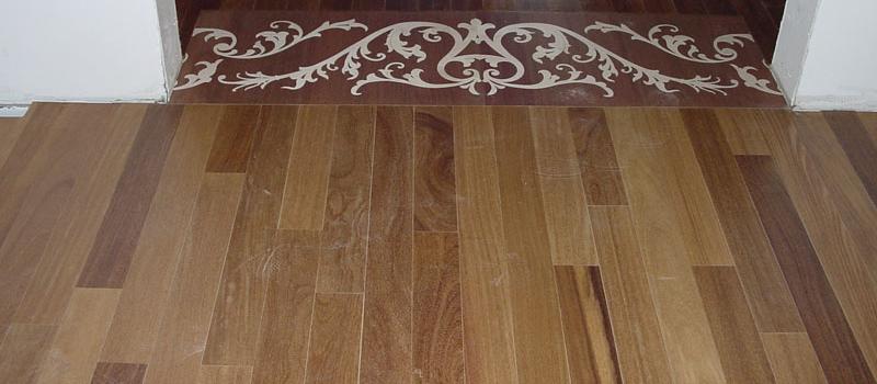 newly installed hardwood flooring