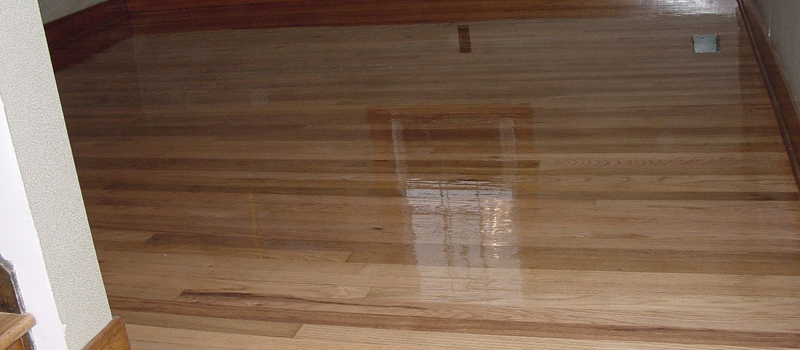 hardwood flooring after being refinished